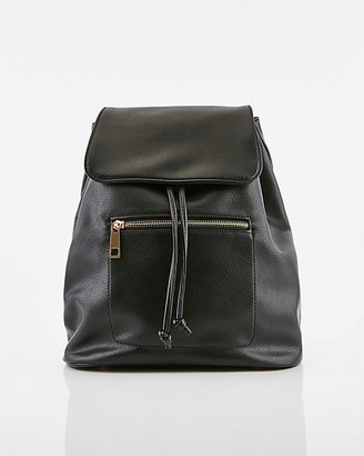 Le Château Faux Leather Flapover Backpack