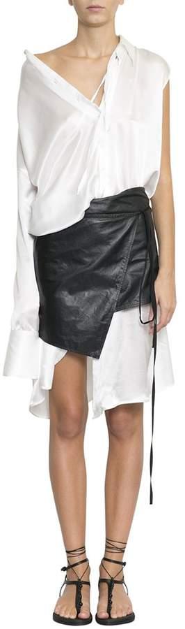 Ann Demeulemeester Silk Shirt Dress