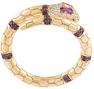 APM Monaco Sterling Silver Serpent Wrap Ring
