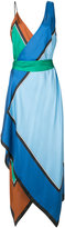 Diane von Furstenberg v-neck asymmetric dress - women - Silk/Polyester/Spandex/Elastane - S