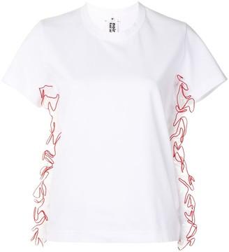 Comme des Garcons ruffled tulle trim T-shirt