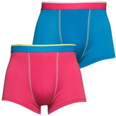 Social Lab Mens Two Pack Boxers Raspberry Sorbet/French Blue