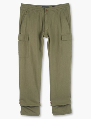 Linen Pull Up Cargo Pant