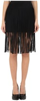 McQ Fringe Mini Skirt