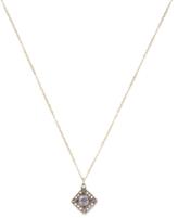 Ila Nasha 14K Yellow Gold, Silver, White Sapphire & 0.10 Total Ct. Diamond Pendant Necklace