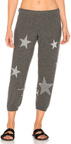 Lauren Moshi Alana Mini Stripe Stars Sweatpant in Black