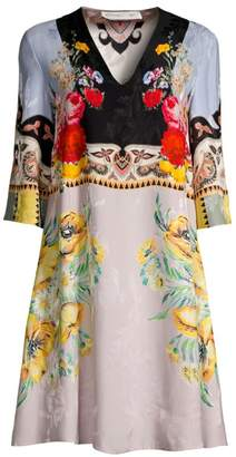 Etro Floral V-Neck Tunic Dress