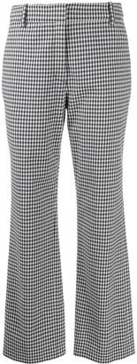 Derek Lam 10 Crosby Gingham Flared Trousers