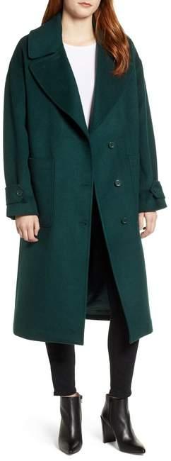 Drop Shoulder Wool Blend Coat