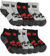 Puma Boys' 6-Pack Quarter Crew Socks