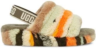 UGG Fluff Yeah Faux Sheepskin Slingback Slippers