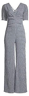 STAUD Women's Fraise Puckered Check Jumpsuit - Size 0