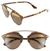 Christian Dior Women's So Real 48Mm Round Brow Bar Sunglasses - Bronze/ Havana