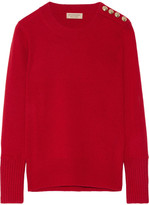 Burberry Embellished Cashmere Sweater - Claret