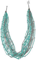 Mixit Multi Row Seedbead Beaded Necklace