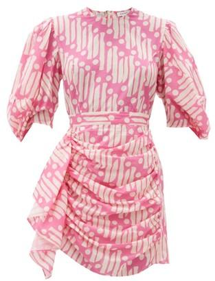 Rhode Resort Pia Printed Cotton Mini Dress - Pink Print