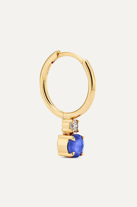 Jemma Wynne 18-karat Gold, Sapphire And Diamond Hoop Earring