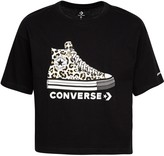 Converse Girls' 7-16 Wordmark Sneakers Graphic Boxy T-Shirt