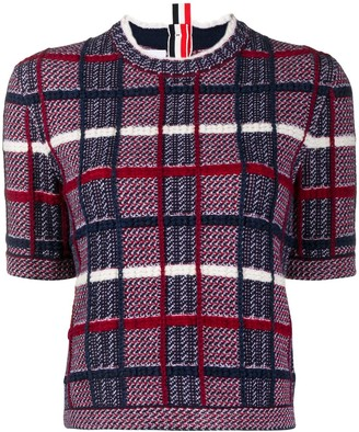 Thom Browne Checked Short-Sleeved Jumper