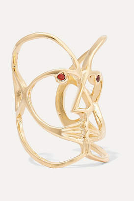Paola Vilas - Klee Gold-plated Garnet Ring
