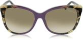 Roberto Cavalli Jabbah 872S Leopard Print Acetate Cat Eye Women's Sunglasses