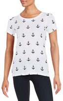French Connection Cotton Anchor Print Tee