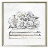 Oliver Gal Framed Rose & Books Print