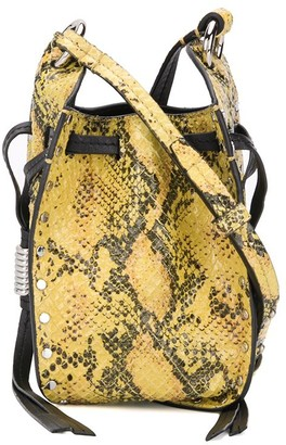 Isabel Marant Radji snakeskin-effect bucket bag