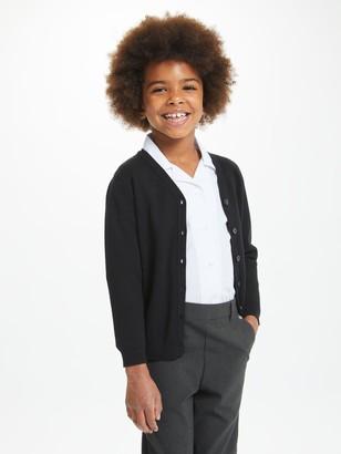 John Lewis & Partners V-Neck School Cardigan