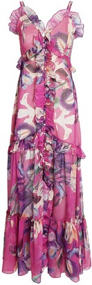 PatBO Grace Printed Convertible Maxi Dress