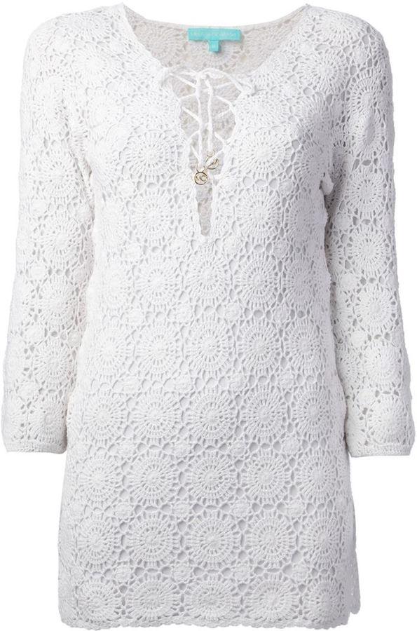 Melissa Odabash crochet 'Giselle' mini dress