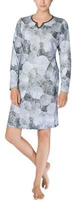 Calida Women's Emily Nightie, (Lava Blue 477), (Size: X-Small)