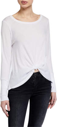 Chaser Thumbhole Twist Front Tee