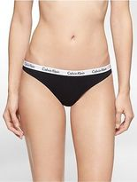 Calvin Klein Womens Logo Cotton Thong Underwear