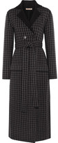 Bottega Veneta Houndstooth Wool And Cashmere-blend Coat - Dark gray