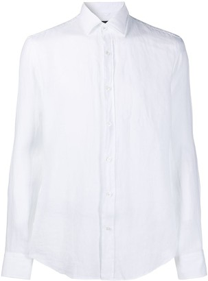 BOSS Pointed Collar Linen Shirt