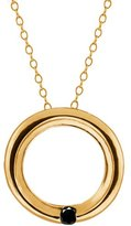 Gem Stone King Round Diamond 18k Yellow Gold Pendant