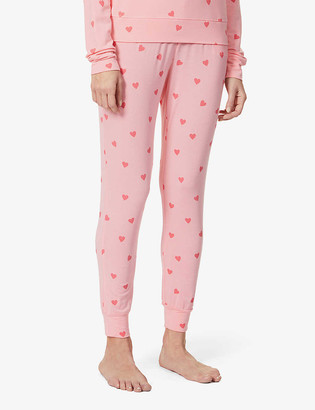 Stripe & Stare Heart Throb tapered mid-rise stretch-jersey trousers