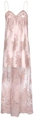 Jiri Kalfar Dusty Pink Embroidered Slip Dress
