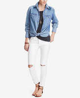 Denim & Supply Ralph Lauren Star-Embroidered Cotton Chambray Shirt