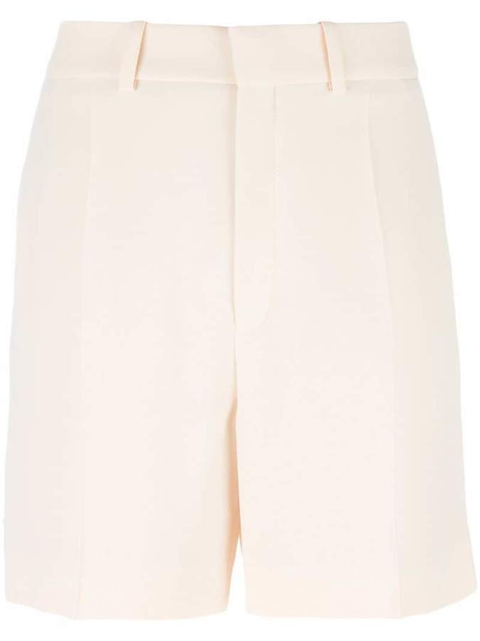 Chloé embroidered trim tailored shorts
