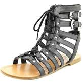 G by Guess Holmes Women Open Toe Synthetic Black Gladiator Sandal.