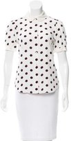 Marc Jacobs Polka Dot Short Sleeve Top