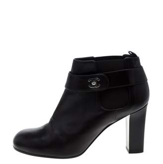 Chanel Brown Leather Ankle boots