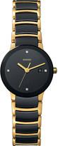 Rado R30930712 Centrix gold and black ceramic watch