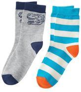 Crazy 8 Dino Stripe Socks 2-Pack