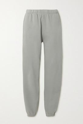 LES TIEN Cotton-jersey Track Pants - Gray