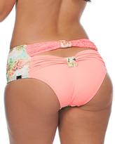 Nicolita Swimwear - Agua Dulce Peek-A-Bow Bikini Bottom Coral Lace