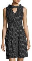 Taylor Knit-Jacquard Keyhole Dress