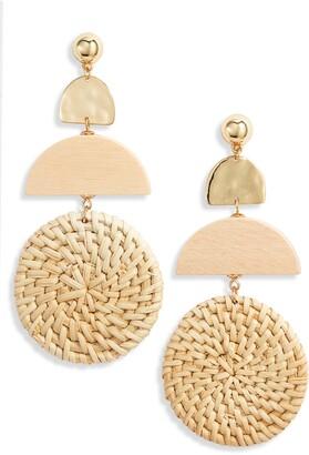 Ettika Raffia Drop Earrings